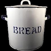English Vintage Enamelware Bread 'Canister'
