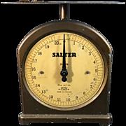 Vintage Salter Scale No. 34 Bronze Paint Cast Iron