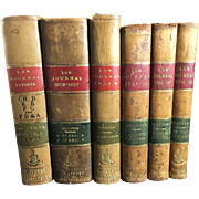 Leather Bound English Law Books, 6 Volumes