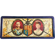 1911 Coronation Rowntree Cocoa & Chocolate tin box, King George V, Queen Elizabeth ...