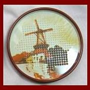 SALE Vintage Tin Punched Coaster Set ~ Set of 12