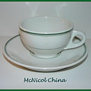 SALE McNicol China Green Line & Band Cup & Saucer