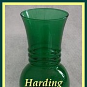 Anchor Hocking Forest Green Harding Vase