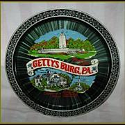 Vintage Collectible Black Gettysburg Souvenir Tray
