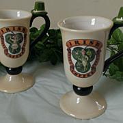 SOLD Dept 56 Irish Coffee Mug Set ~ Time to Celebrate