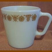 Pyrex Glass Butterfly Gold Mug ~ Set of 2