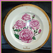 Gorham Limited Edition 1975 Rose Parade Collector's Plate