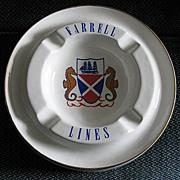 Farrell Lines Ashtray, Shipping Memorabilia