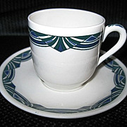 New York Hospital Nurses' Residence Lamberton Scammell Demitasse Cup and Saucer