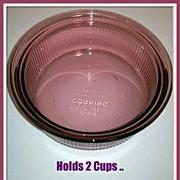Corning Visions Cranberry Pint Casserole Souffle Dish