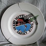 SOLD Royal Overhouse Dinner Plate Grand Hotel Villa Dolce Garoet