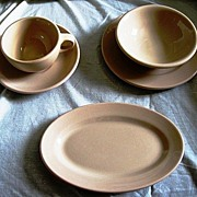 Mayer China Mayan Ware 5 Piece Set Restaurantware Tan