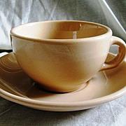 Mayer China Mayan Ware Cup & Saucer Restaurantware Set Tan