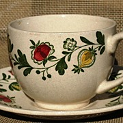 Johnson Brothers Staffordshire Old Granite Gretchen Pattern Cup & Saucer Set