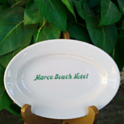 Vintage Marco Island Hotel Restaurantware Platter by Mayer China