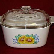 SOLD Corning Ware Sunflower Sunsations 3L Casserole A-3-B