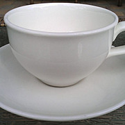 SOLD Iroquois Casual White Russel Wright Coffee Cup & Saucer Set