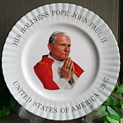 Pope John Paul II Commemorative Plate by Royal Albert China England