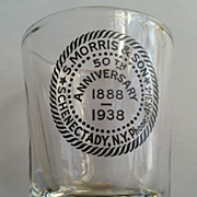 S. Morris & Son Schenectady NY 50th Anniversary Shot Glass