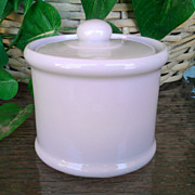 SOLD Sterling Vitrified China White Covered Mustard Pot 1951