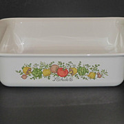 SOLD Corning Pyrex Spice of Life Square Baker