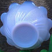 SOLD Anchor Hocking Fire King Leaf & Blossom Azurite Blue Bowl