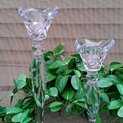 Lenox Crystal Opal Innocence Single Light Candlestick Set of Two