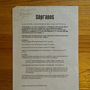 "The Sopranos ""Cold Stones"" Episode Call Sheet"