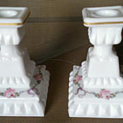 Westmoreland Wedding Roses & Bows Candlestick Set