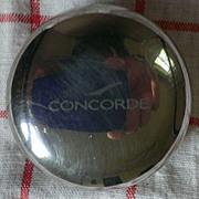 Concorde Airline Memorabilia Round Silver Case / Pill Box