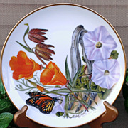 SALE PENDING Sierra Club's Flowers of the American Wilderness Porcelain Plate Set