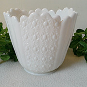 Fenton Daisy & Button Early Large Milk Glass Vase