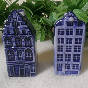 Delft Blue Canal House Salt & Pepper Set