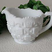 Westmoreland Old Quilt  12 oz. Milk Glass Creamer