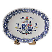 """SOLD Johnson Brothers Hearts & Flowers 12"""" Oval Serving Platter"""