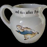 SOLD Wedgwood PETER RABBIT Child's Creamer Pattern # 5657758