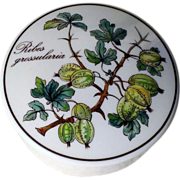"""SOLD Villeroy & Boch Botanica 3"""" Candy Dish with Lid Ribes Grossularia"""