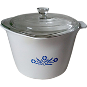 Corning Cornflower Blue Stove Top 2 Qt. Saucemaker w Lid & Grab Handle