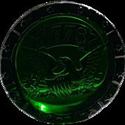 Vintage Blenko Glass 1776 Liberty Ashtray - Green