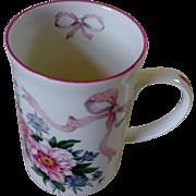 St. George Fine Bone China Peonies & Ribbons Bridal Mug