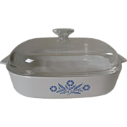 Corning Cornflower Blue Casserole with A-12-C Lid