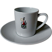 SOLD Ethiopian Airlines Cup & Saucer Set by Noritake