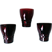 Royal Ruby Anchor Hocking Windsor Glass Set of 4
