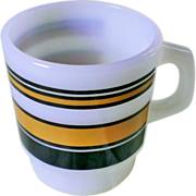 Anchor Hocking Fire-King Striped Coffee Mug