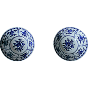 Johnson Brother Indies - Blue Coupe Cereal Bowl Set