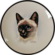 Coalport Siamese Cat Decorative Plate by Derick Brown