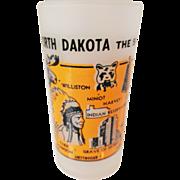 Hazel Atlas Frosted North Dakota State Glass Souvenir