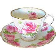 Royal Albert matched Cup & Saucer Set Old English Rose & American Beauty