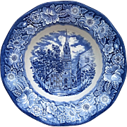 Liberty Blue Old North Church Soup Bowl Enoch Wedgwood