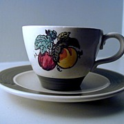 Metlox Poppytrail Provincial Fruit Cup & Saucer